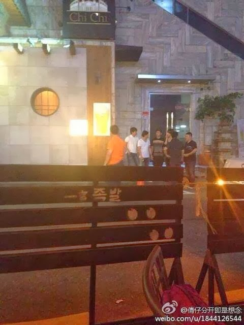 kim hyun joong drinking with his friends