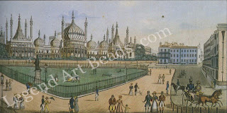 Regency Brighton the Constable family spent several summers in Brighton after Maria developed TB in 1824. The South Coast resort had been made fashionable by the Prince Regent, for whom Nash designed the town intensely and described it as Piccadilly by the sea