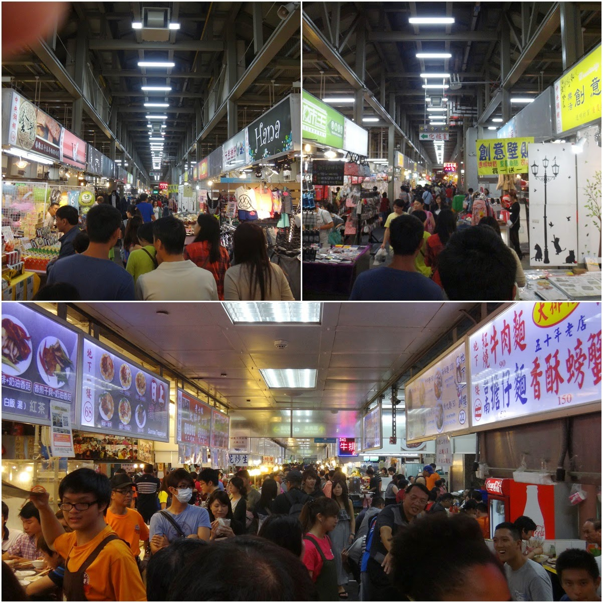 Shopping for food, clothing, souvenirs, decorative items and anything that you can find from these vendors at Shilin Night Market in Taipei, Taiwan