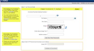 E_Aadhaar_download_online_application