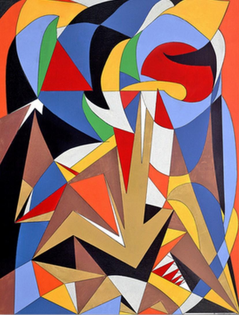 Cuadros pinturas oleos pinturas de colores vivos for Imagenes de cuadros abstractos geometricos