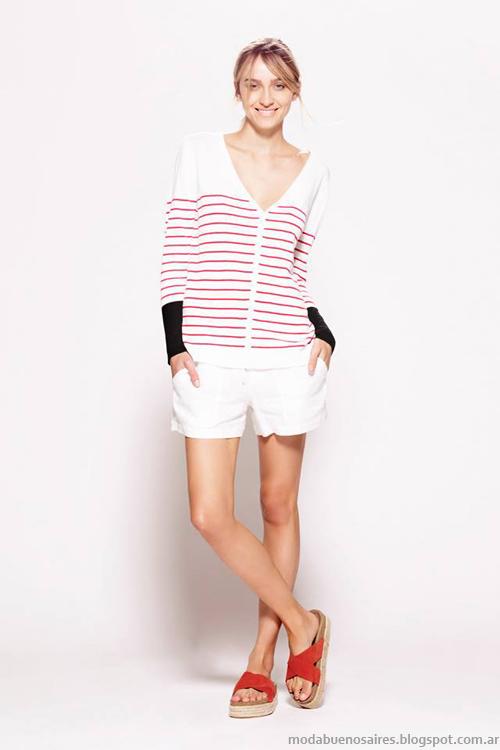Moda primavera verano 2014 sweaters tejidos.