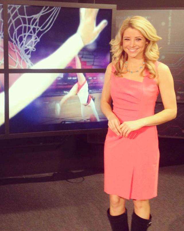 former univeristy of oregon cheerleader amanda pflugrad is a host for    Amanda Pflugrad