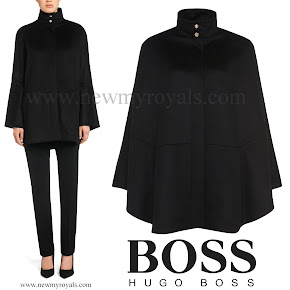 Queen Letizia Style  HUGO BOSS Capina Wool Cape