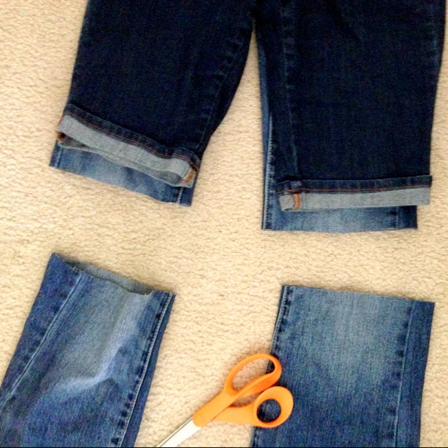 How to Make Cut Off Shorts- Easy tutorial for Summer!