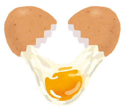卵を割ったイラスト