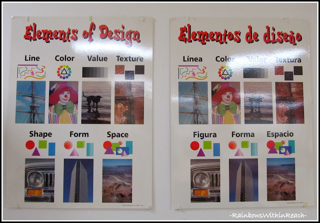 photo of: Art Room Elements of Design (via Art Room RoundUP from RainbowsWithinReach)