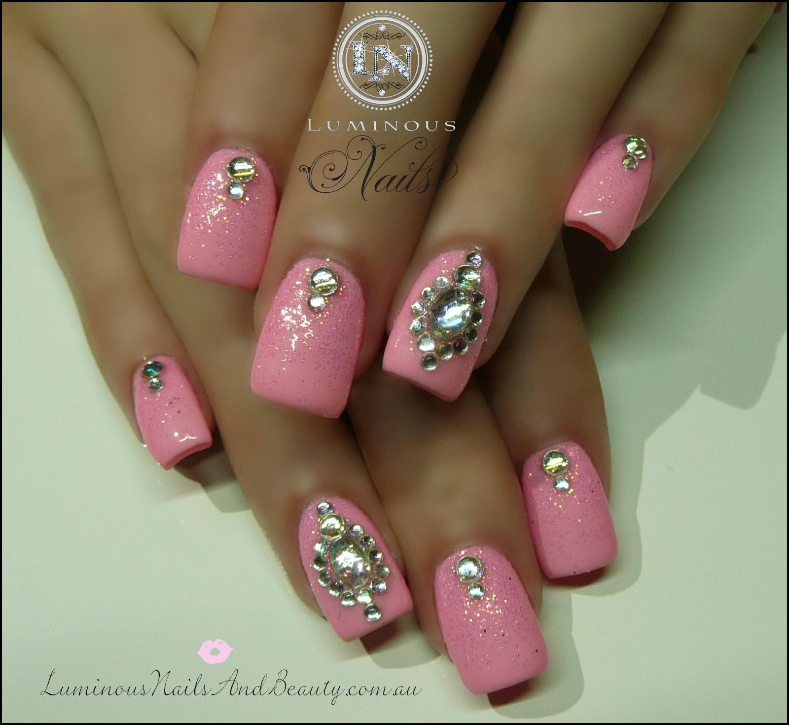 Pink And Gold Nail Designs Luminous nails: barbie pink