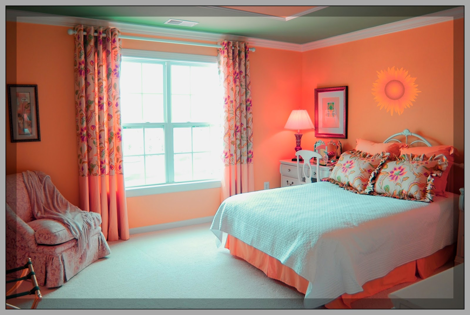 Peach bedroom curtains 28 images best 25 sheer for Blue and peach bedroom ideas