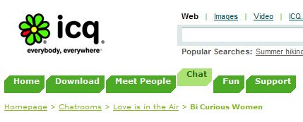 chat rooms like icq definition