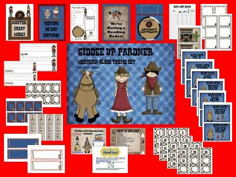 http://www.teacherspayteachers.com/Product/Giddee-Up-Pardner-Western-Theme-Class-Set-274762