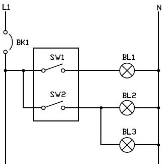 Conexion de interruptor doble