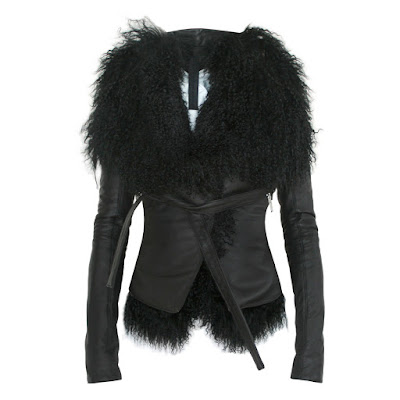 gareth pugh lamb fur leather jacket