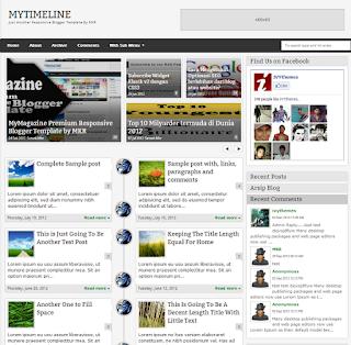 MyTimeLine new responsive blogger template