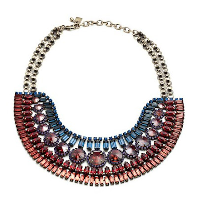 colorful statement necklaces, trend, fashion trend, trend-spotting, jewelry, Dannijo Bea Necklace