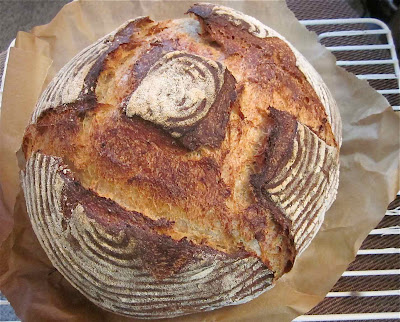 potato sourdough bread with spelt and white whole wheat flour