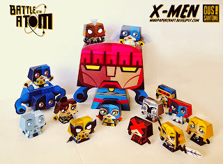 X-Men Battle of the Atom Paper Toy - Mini Papercraft