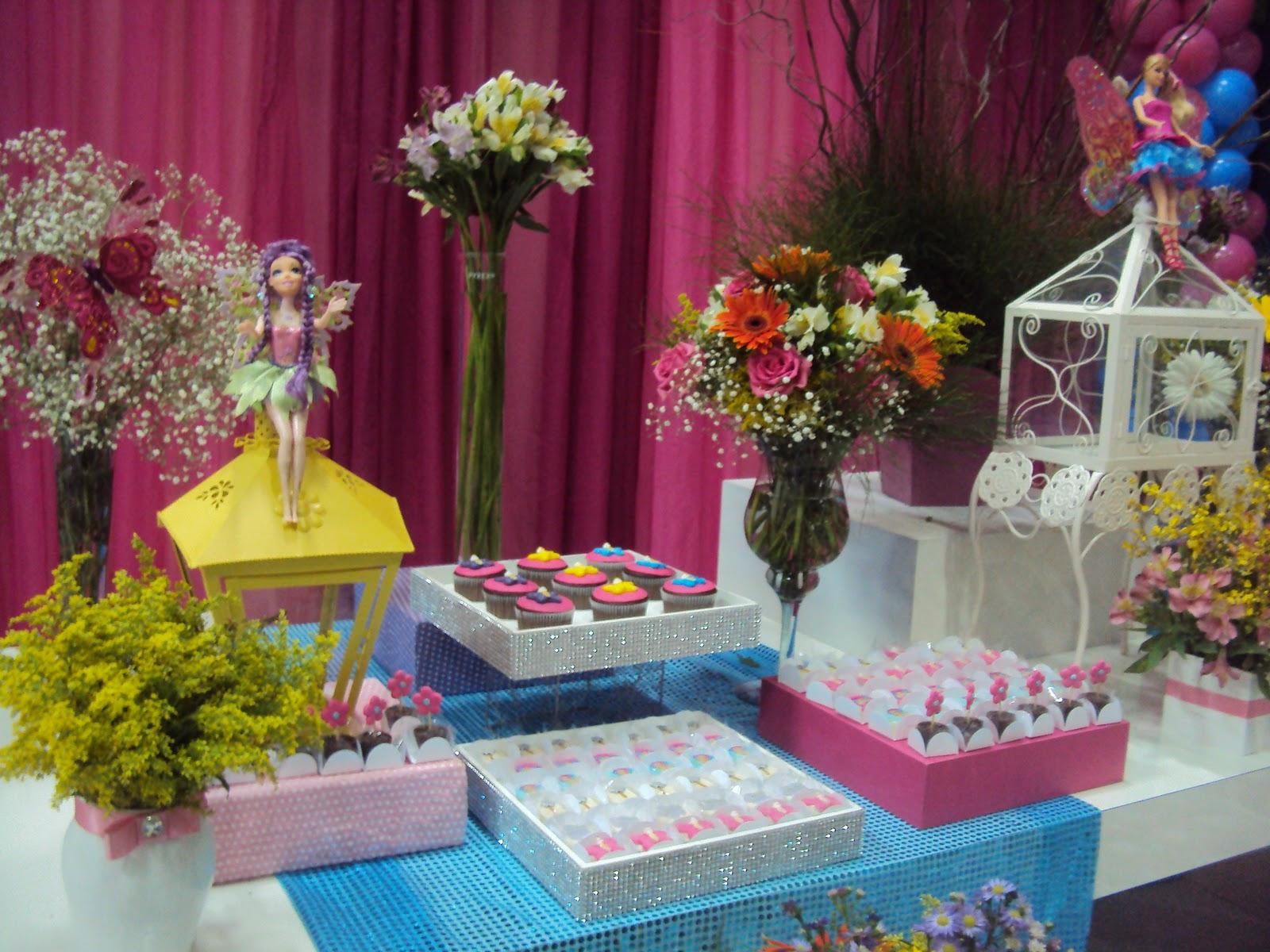 Festas e Cia  Arquitetura e Eventos Barbie Segredo das Fadas