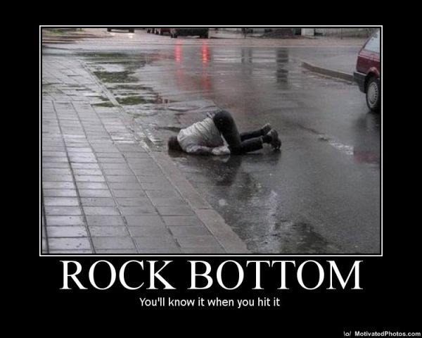 quotes about hitting rock bottom quotesgram