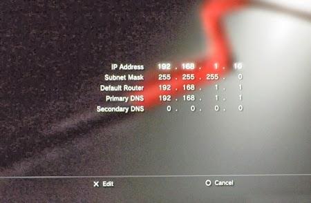 Konsola PS3 - manualne ustawienia IP