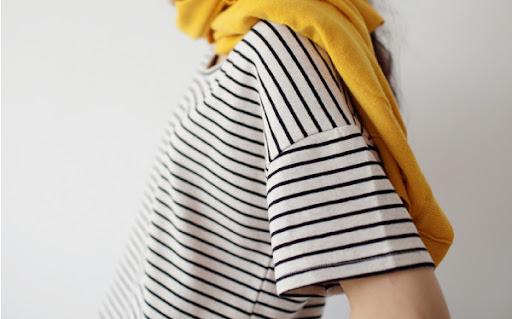 smoky alica korean fashion stripe top