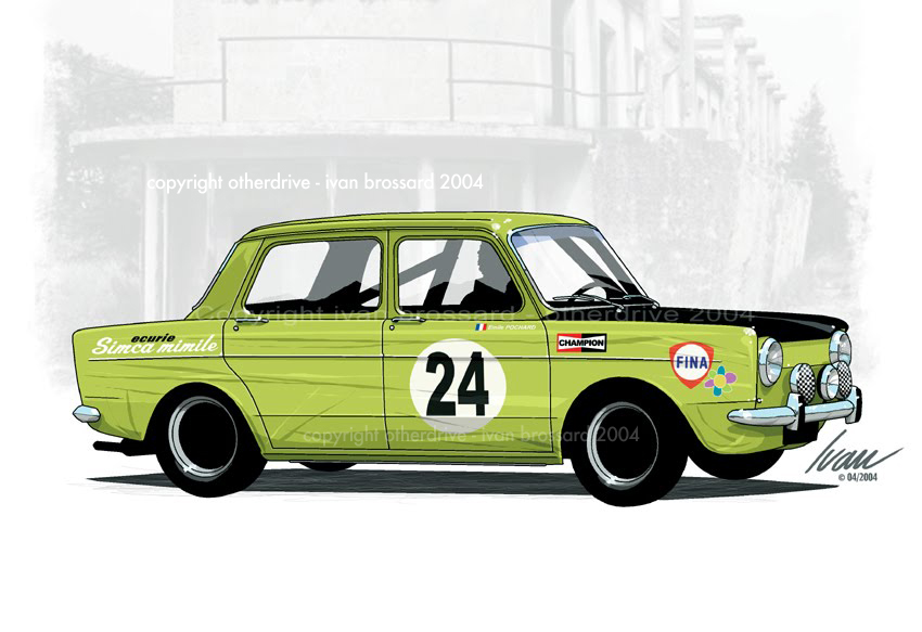 Otherdrive simca mimile - Dessin voiture de rallye ...