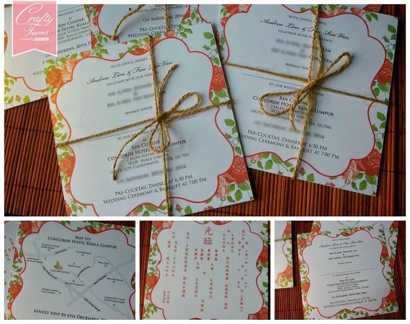 Rose Theme Chinese Wedding Cards Printing