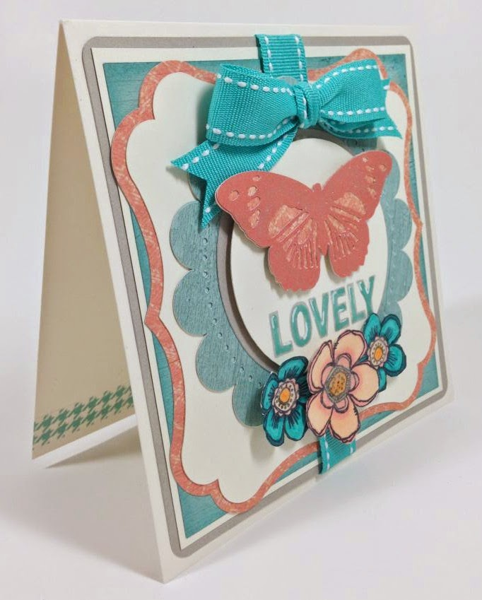 Cricut Anna Griffin Lovely Butterfly card sideview
