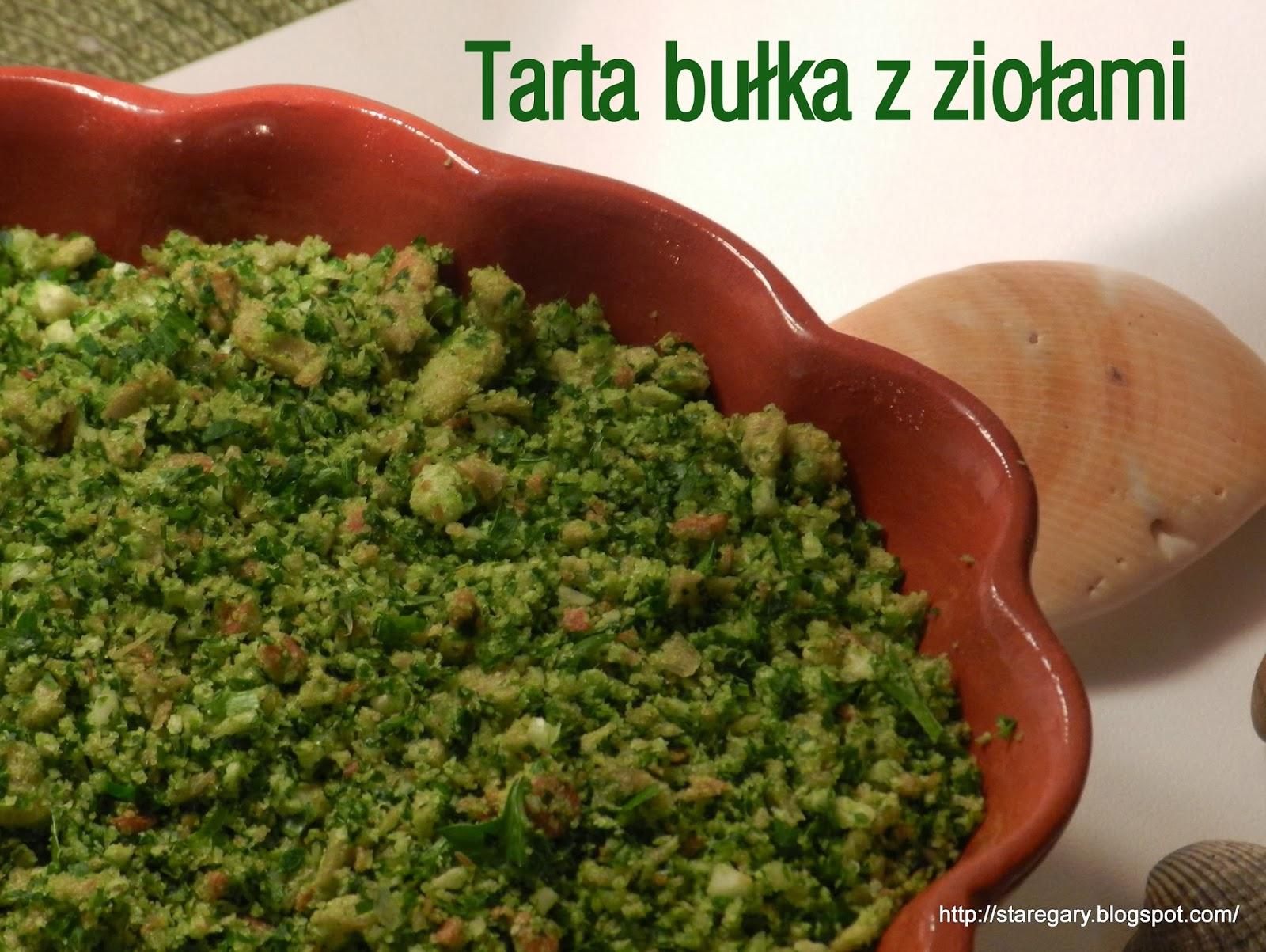 Tarta bułka z ziołami