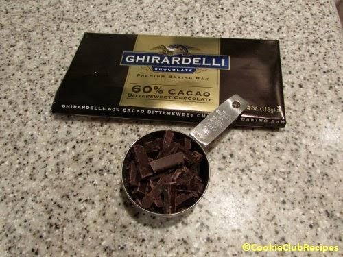 chopped baking chocolate