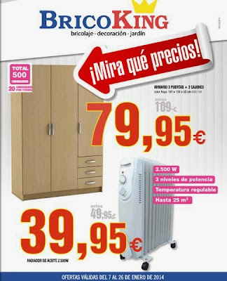 catalogo bricoking rebajas enero 2014