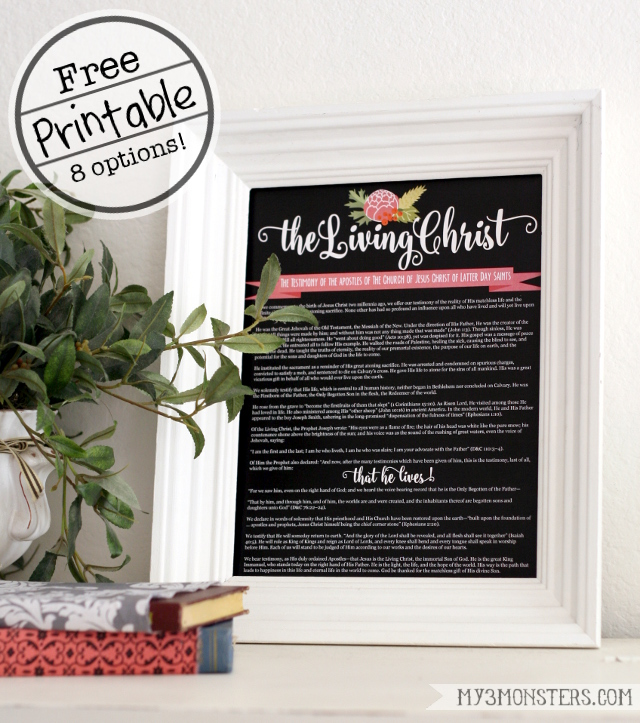 It's just a picture of Amazing The Living Christ Free Printable