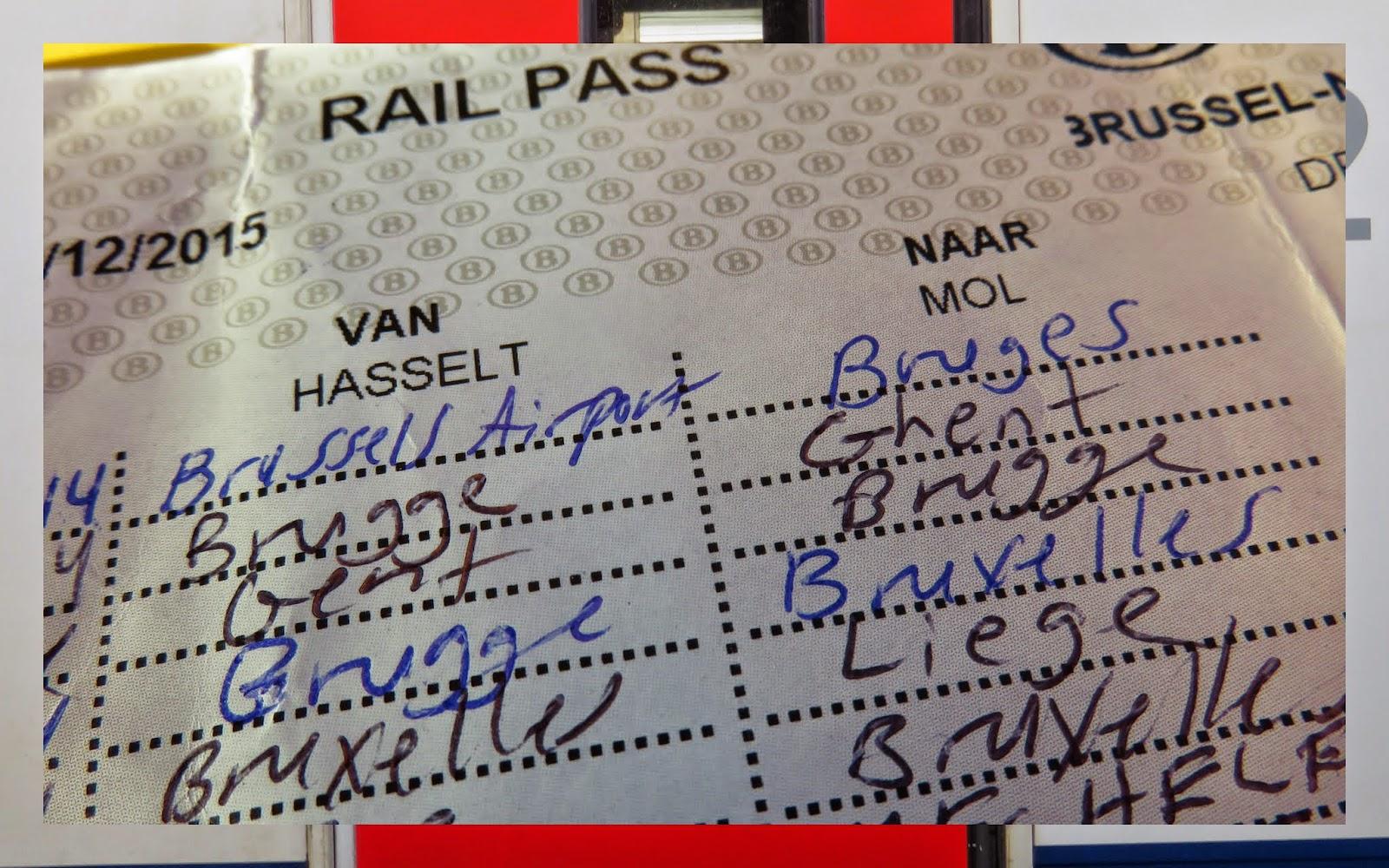 Belgian Rail 10 Trip Train Pass