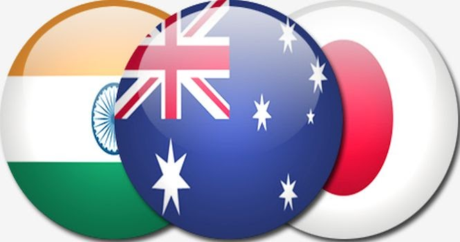 India japan australia come together to counter china indian