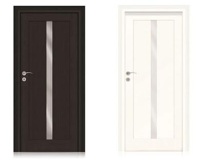 Drzwi klasyczne z wąskim przeszkleniem