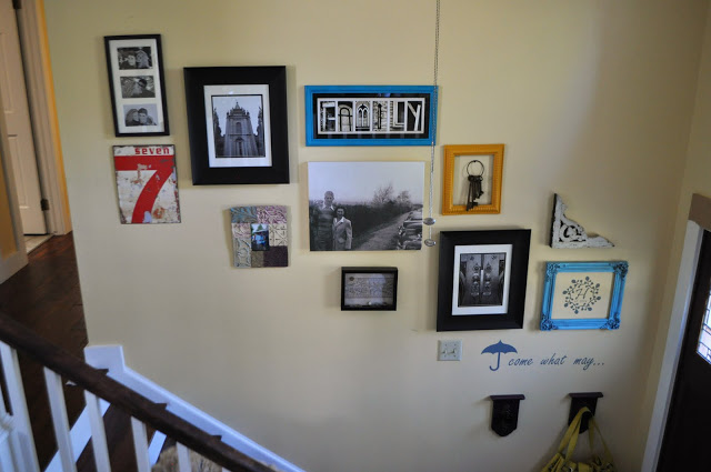 stairway art display