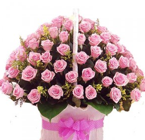 Romantic Valentine Flowers Basket
