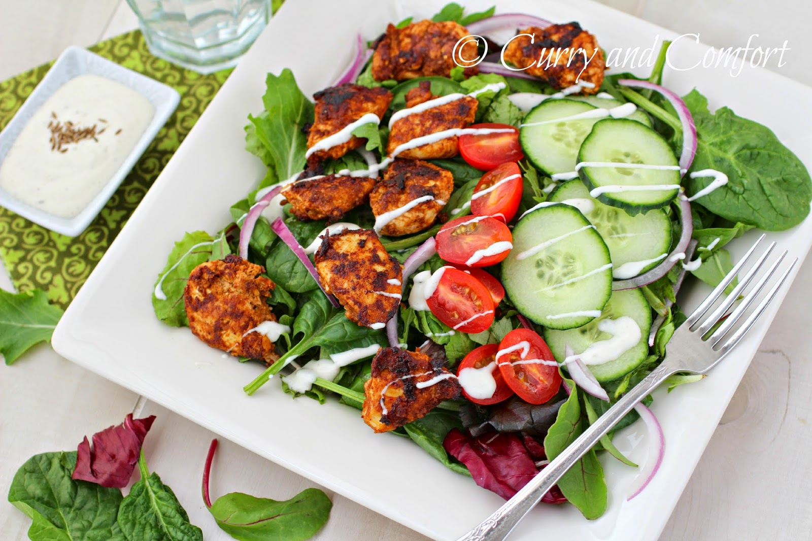 Kitchen Simmer: Chicken Tikka Salad #‎BloggerCLUE