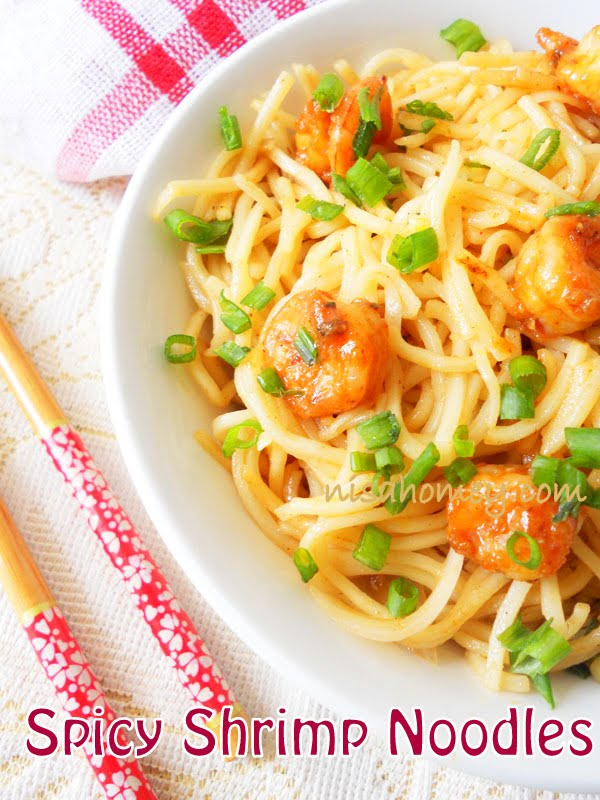 Game lot Asian noodles with shrimp and how