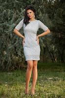 Rochie Nadya Argintie
