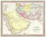 نقشه مستقل بلوچستان در سال 1850 م