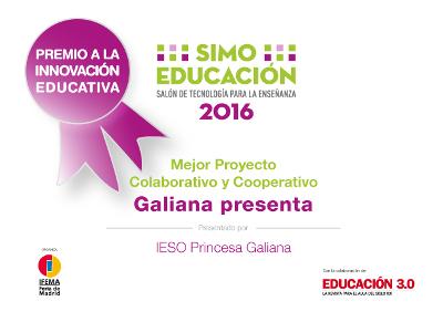 Premio SIMO de Innovación Educativa 2016