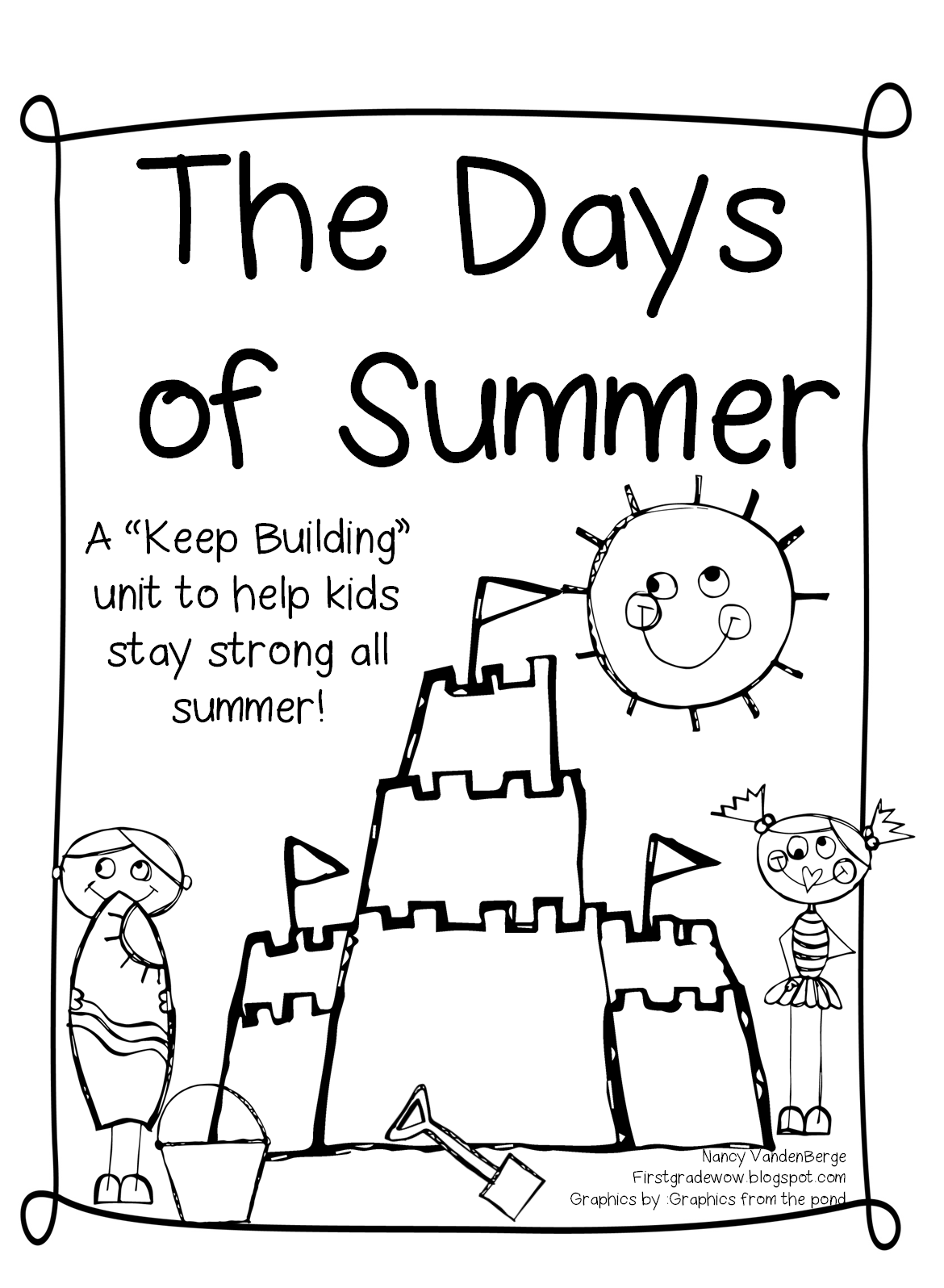 Math color worksheets for 1st grade - Days Of Summer Packet Click On The Link Below
