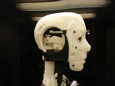 3D printed robot head inmoov