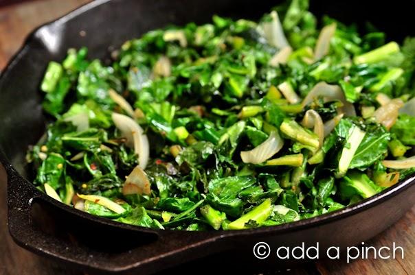 Spicy Skillet Turnip Greens