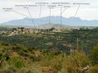 Talamanca i Montserrat des del Serrat del Feliu