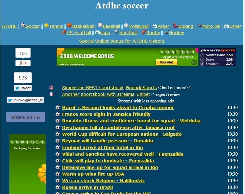 ATDHE.net - Watch Live Sports Online !! - YouTube