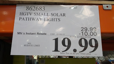 HGTV Home 8 Piece LED Solar Pathway Lights at Costco