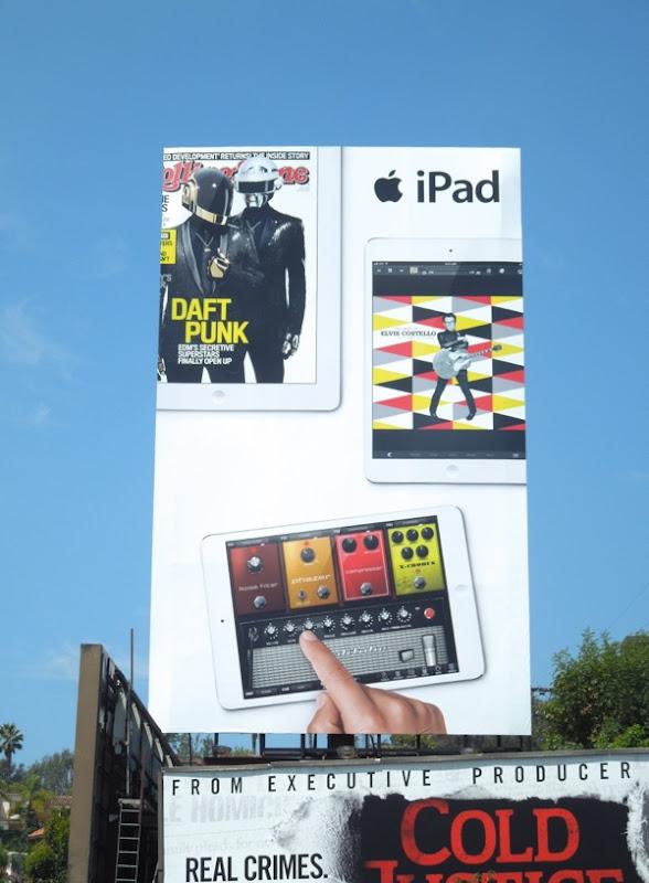Giant Daft Punk iPad billboard Sunset Boulevard