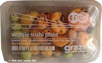 Graze Veggie sushi plate snack